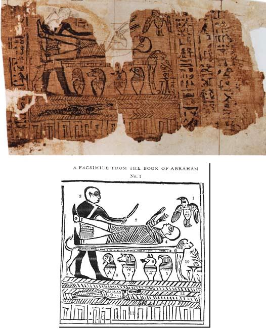 Papyrusrullarna, orginal och Smiths kopia